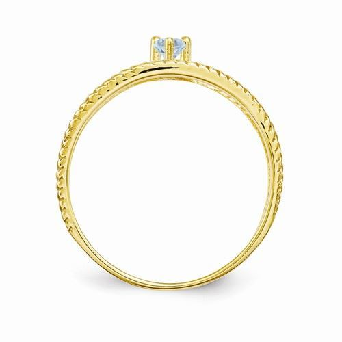 Picture of 14K Gold 1 to 4 Round Stones Mother's Ring