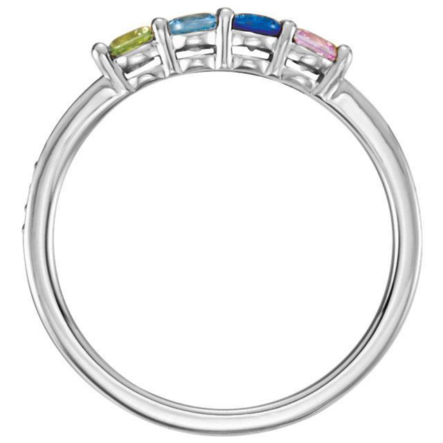 Picture of Silver 1 to 6 Round Stones Mother's Ring