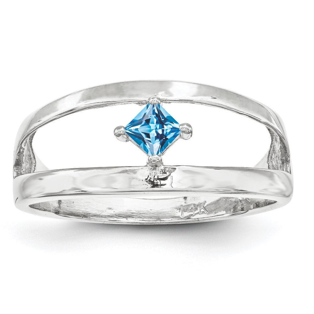 Picture of Silver 1 to 4 Square Stones Mother's Ring