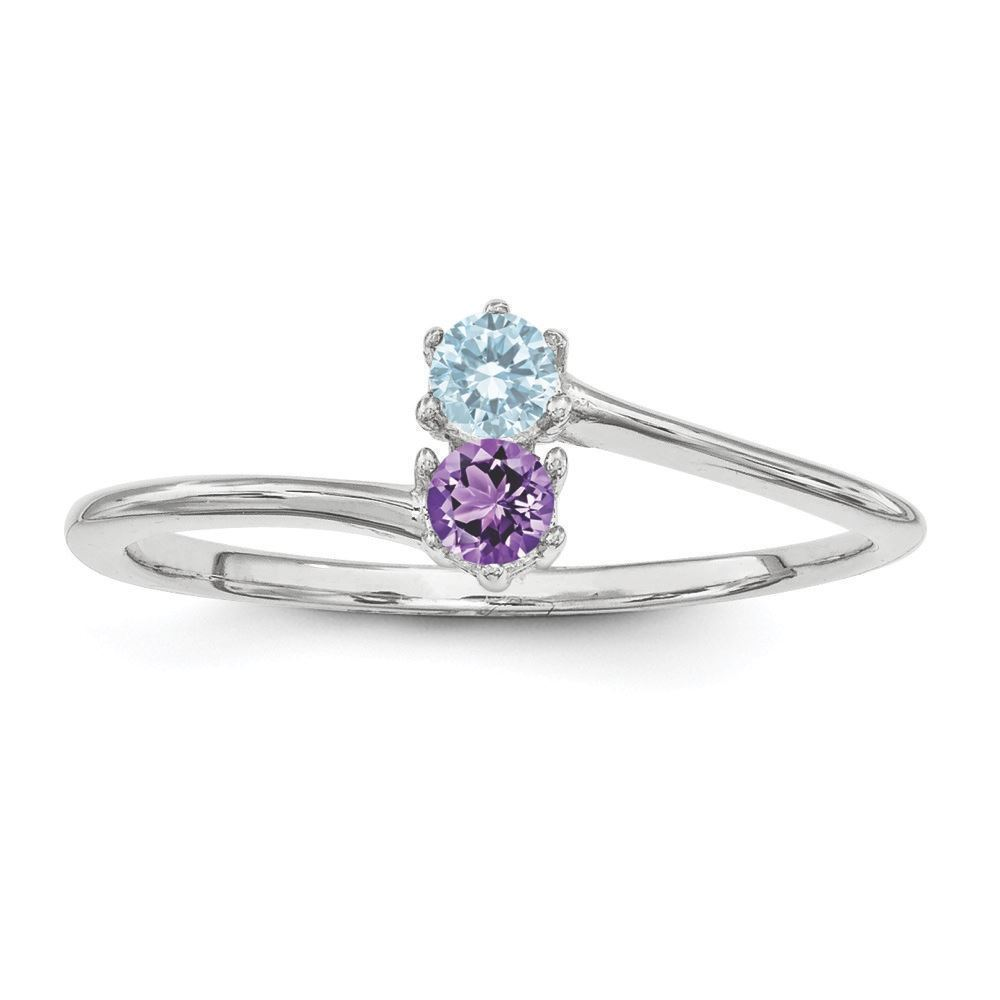 Picture of Silver 1 to 4 Round Stones Mother's Ring