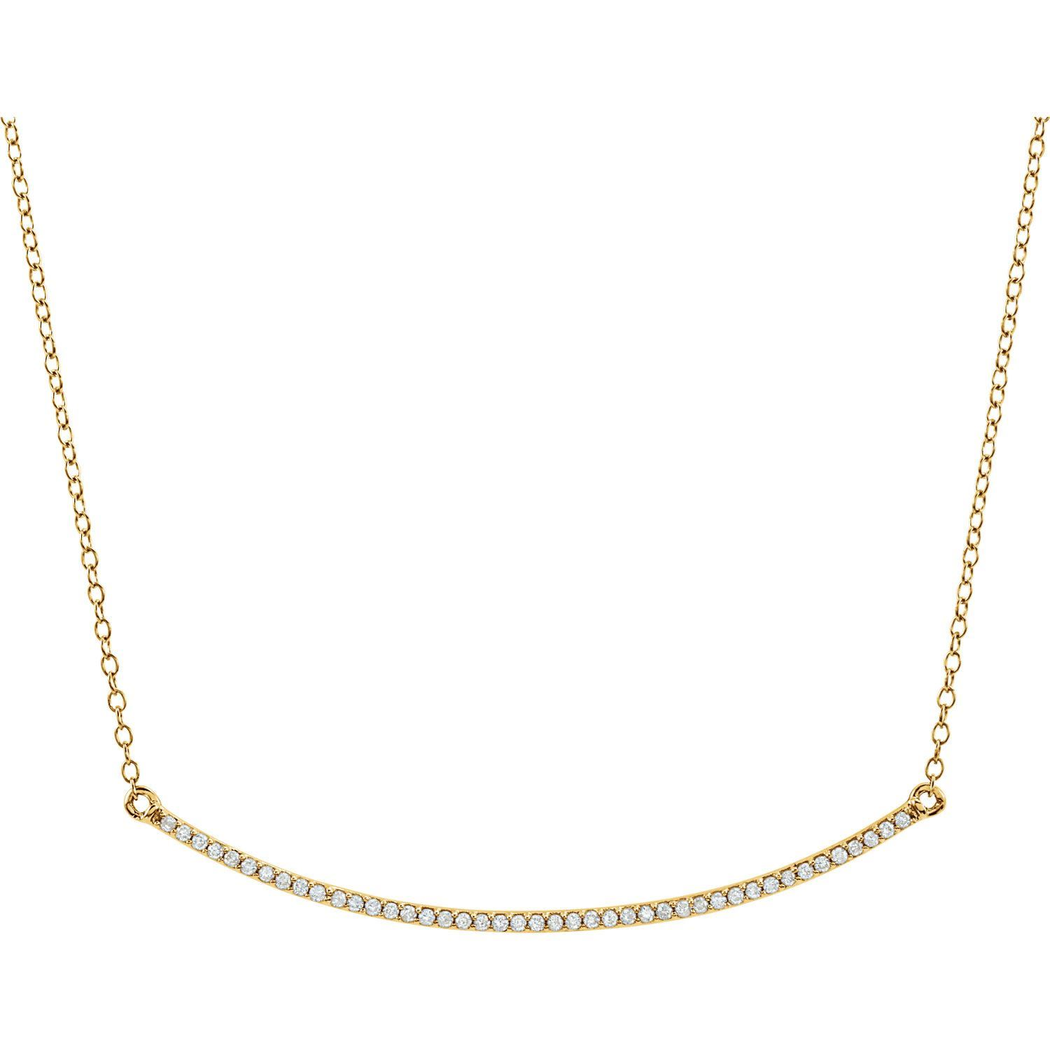 Picture of 14K Gold Diamond Bar Necklace