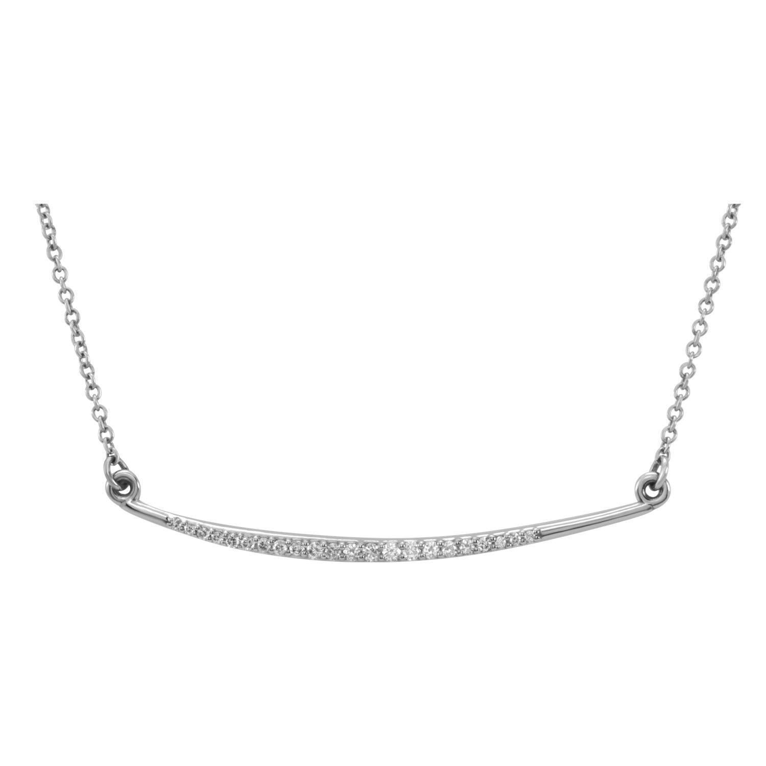 Picture of 14K Gold Diamond Curved Bar Necklace