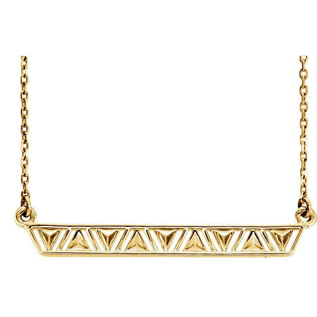 Picture of Silver or Gold Triangle Bar Necklace