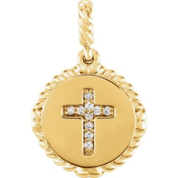 Picture of Diamond Cross Rope Pendant