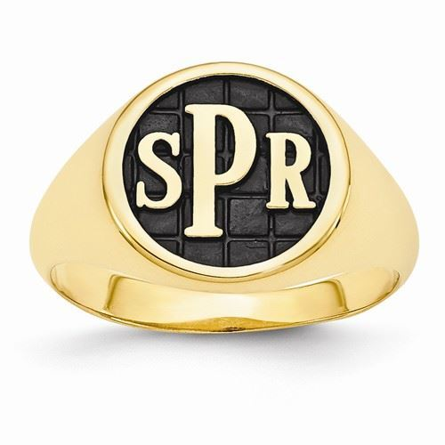 Picture of 14K Gold Men's Monogram Ring