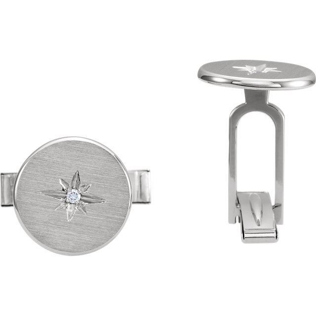 Picture of Diamond Starburst Men's Cuff Links