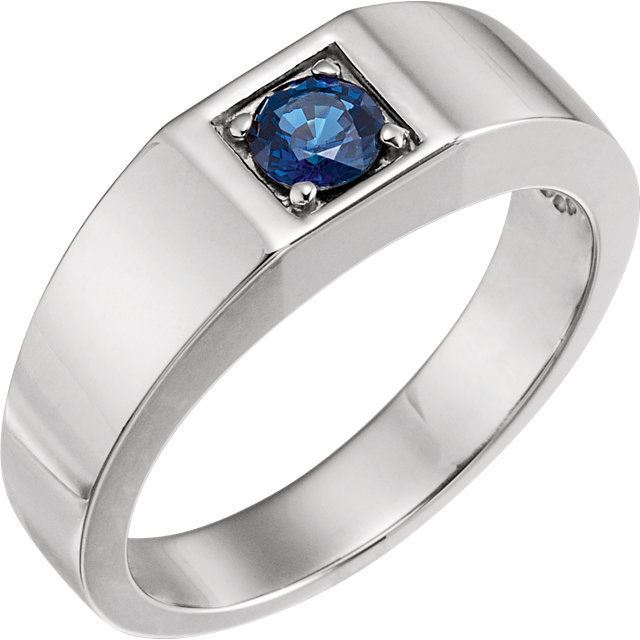 Picture of Men's Created Sapphire Ring