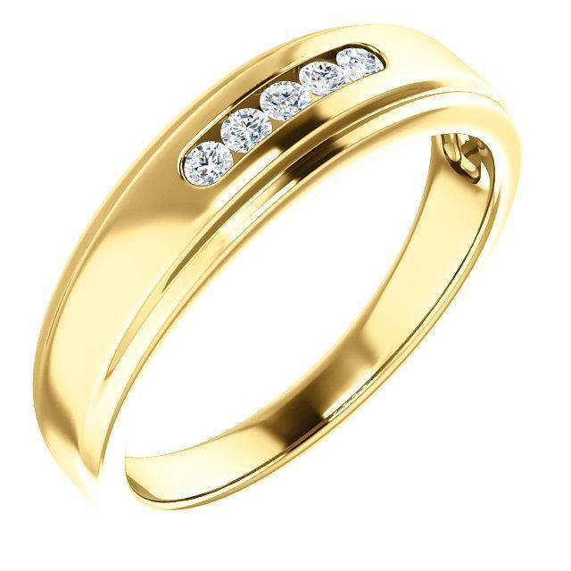 Picture of 14K Gold Men's Diamond Ring
