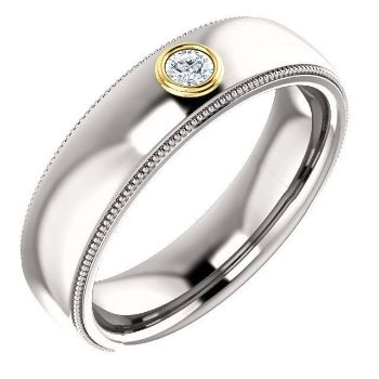 Picture of 14K Gold Men's Diamond Ring