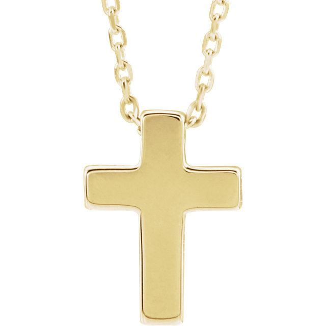 Picture of 14K Gold Petite Cross Pendant