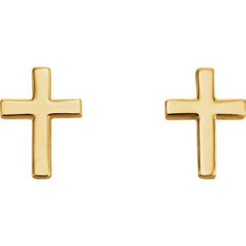 Picture of 14K Gold Cross Earrings