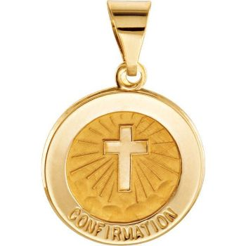 Picture of 14K Hollow Confirmation Medal