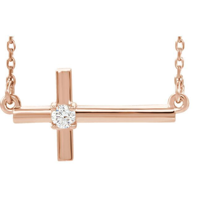 Picture of 14K Gold 1/10 CTW Diamond Cross Pendant