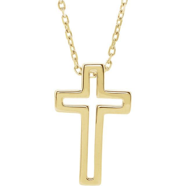 Picture of 14K Gold Open Cross Necklace