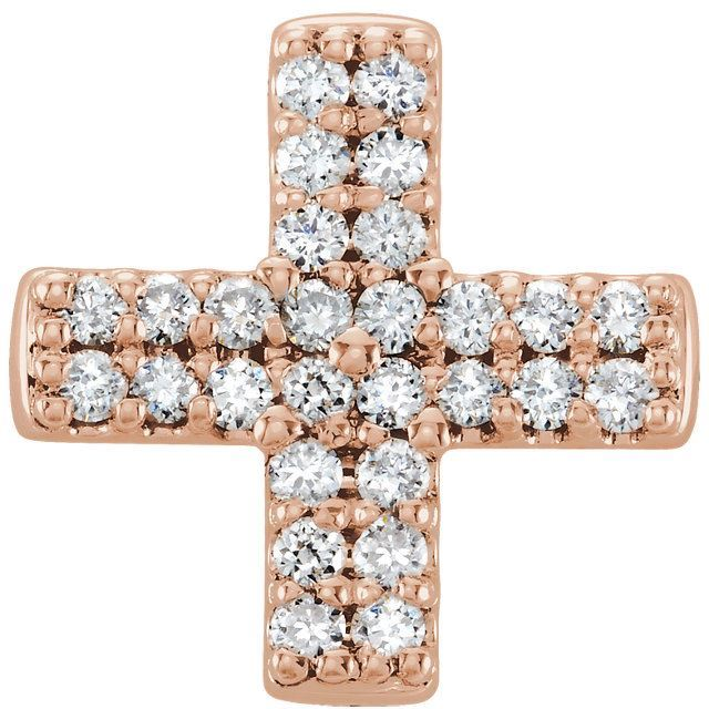Picture of 14K Gold .07 CTW Diamond Cross Pendant