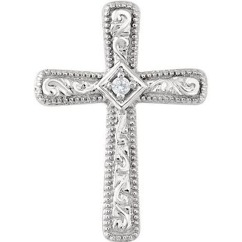 Picture of 14K Gold .01 CTW Diamond Cross Pendant