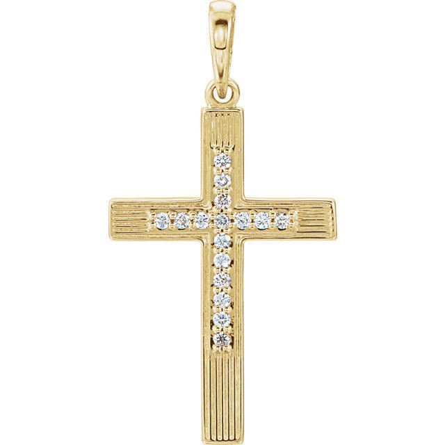 Picture of 14K Gold .08 CTW Diamond Cross Pendant