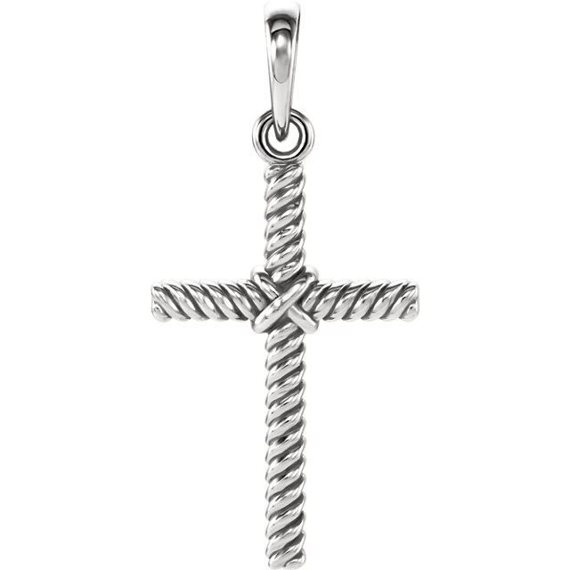 Picture of 14K Gold 17.5x11.3mm Rope Cross Pendant