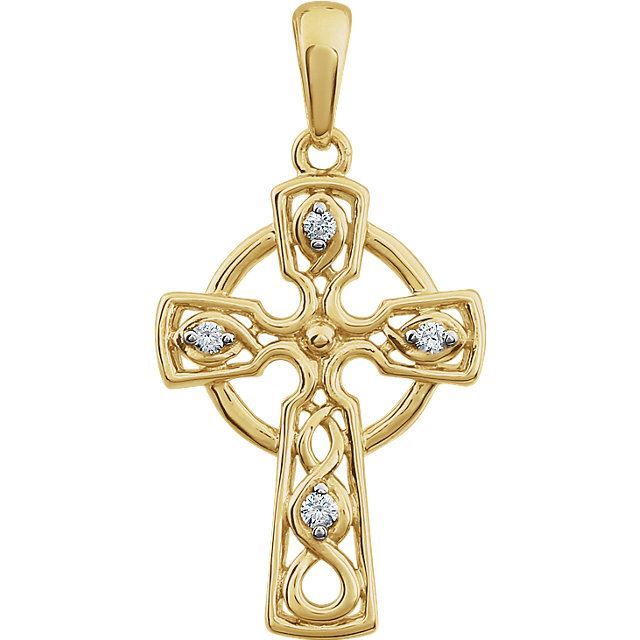Picture of 14K Gold .05 CTW Diamond Cross Pendant