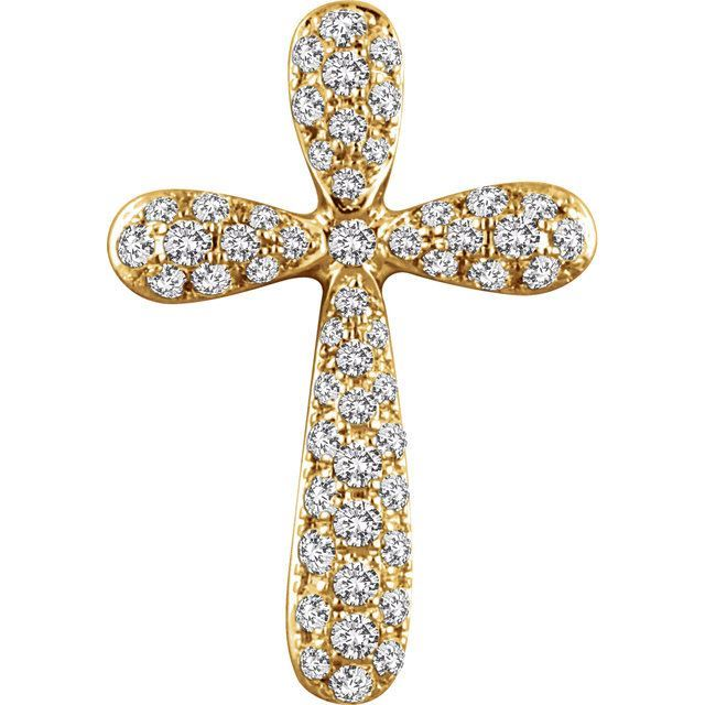 Picture of 14K Gold1/4 CTW Diamond Cross Pendant