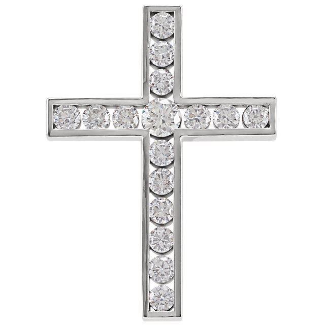 Picture of 14K Gold 1 1/4 CTW Diamond Cross Pendant
