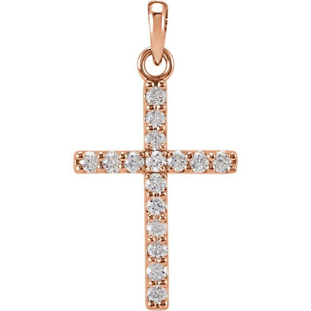 Picture of 14K Gold 1/4 CTW Diamond Cross Pendant