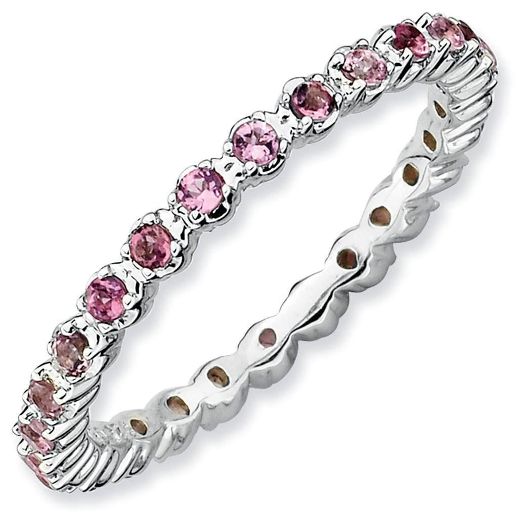Picture of Silver Eternity Ring Pink Tourmaline