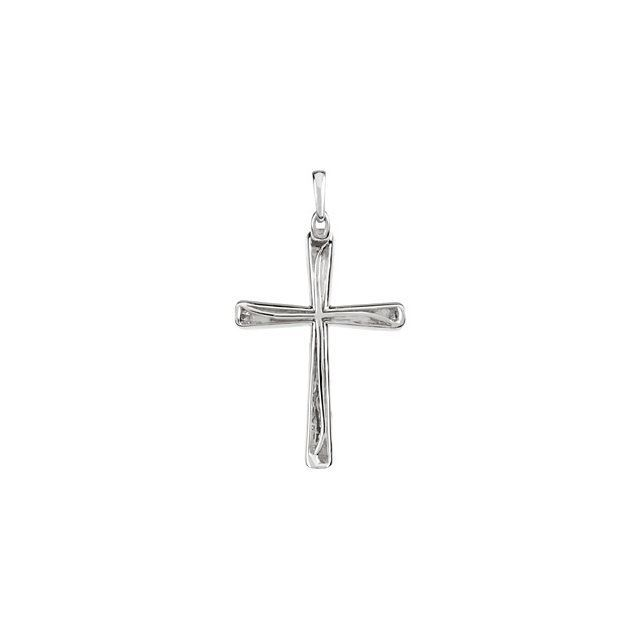 Picture of 14K Gold 1/4 CTW Diamond Micro Pavé Cross Pendant