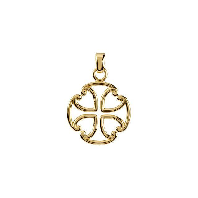 Picture of 14K Gold Maltese Cross