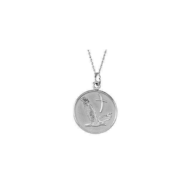 "Picture of Sterling Silver 20mm Overcoming Difficulties 18"" Necklace with Box"