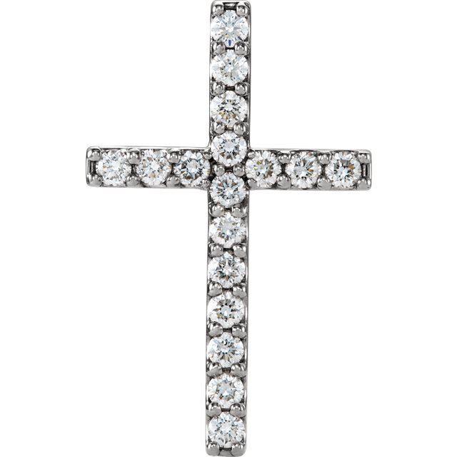 Picture of 14K Gold 1/2 CTW Petite Diamond Cross Pendant