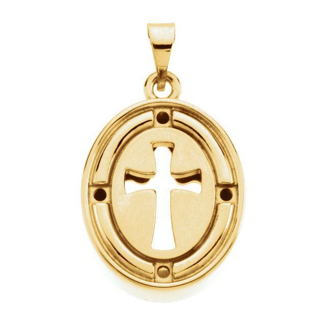 Picture of 14K Gold 16x13.5mm Beyond the Cross™ Pendant Mounting