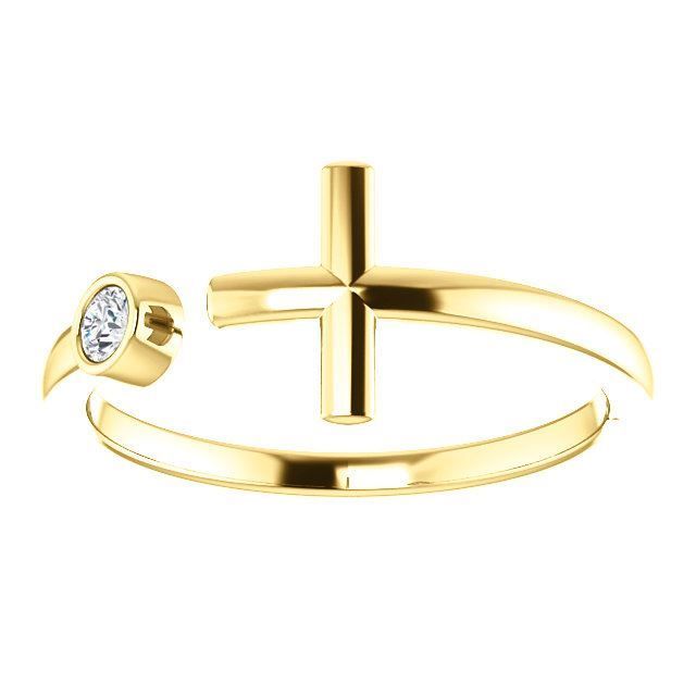 Picture of 14K Gold .06 CTW Diamond Cross Ring