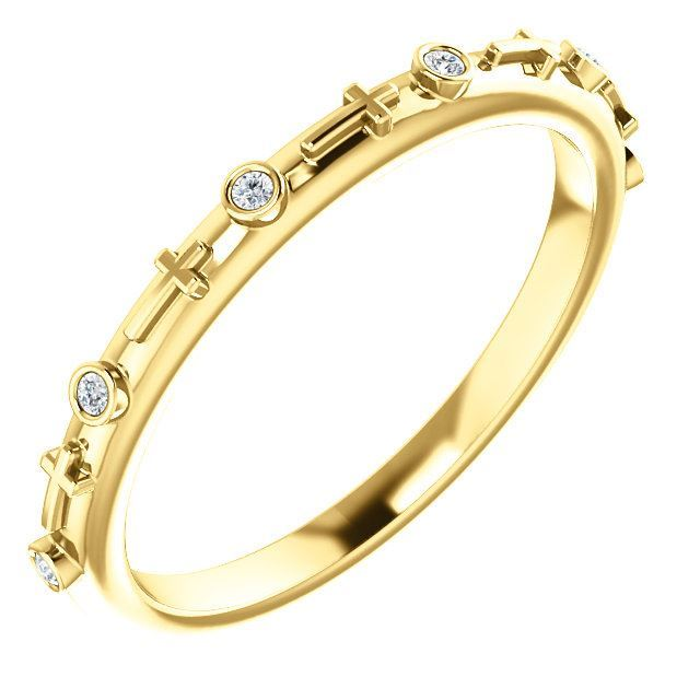 Picture of 14K Gold .03 CTW Diamond Cross Ring