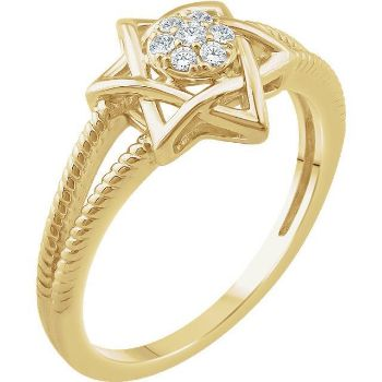 Picture of 14K Gold 1/10 CTW Diamond Star of David Ring