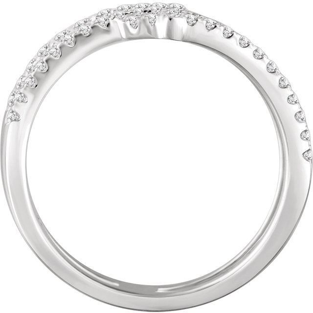 Picture of 14K White 3/8 CTW Diamond Sideways Cross Ring