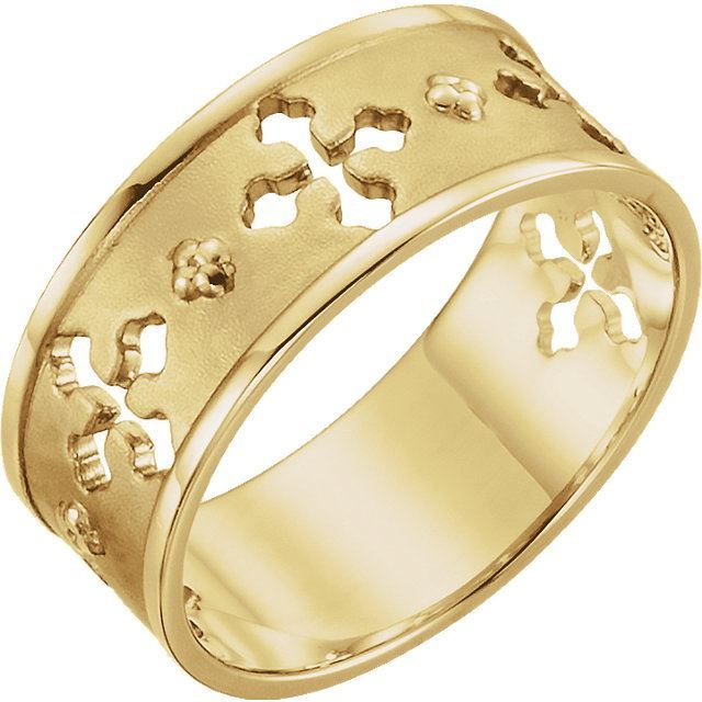 Picture of 14K Gold Pierced Cross Ring
