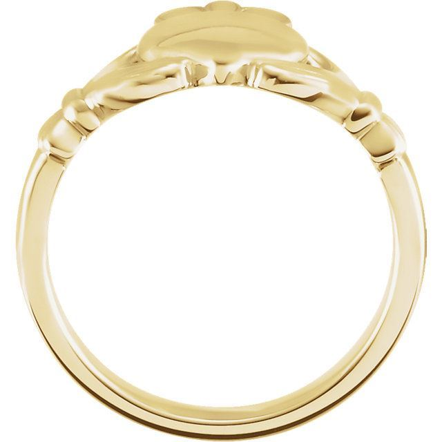 Picture of 14K Gold 10.5 mm Claddagh Ring Size 11