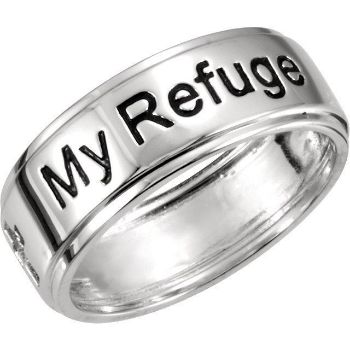 Picture of Sterling Silver My Refuge My Strength Ring Size 11
