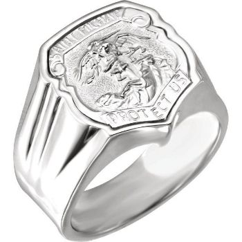 Picture of St. Michael Badge Ring