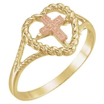 Picture of Heart Ring with Cross