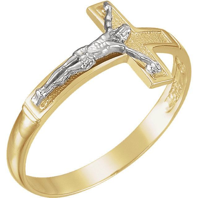 Picture of Two-Tone Crucifix Ring