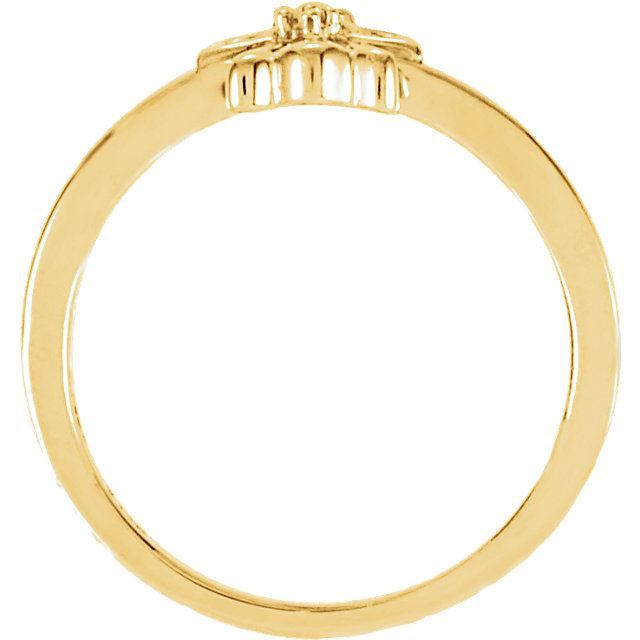 Picture of 14K Gold Youth Angel Ring Mounting