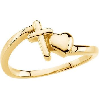 Picture of 14K Gold Cross & Heart Chastity Rings®