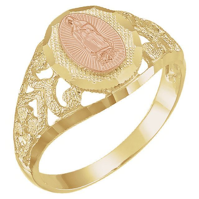 Picture of Two-Tone Our Lady of Guadalupe Ring
