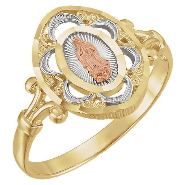 Picture of 14K Yellow & Rose Gold Our Lady of Guadalupe Ring