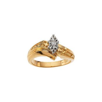 Picture of 14K Gold .05 CTW Diamond Engagement Ring