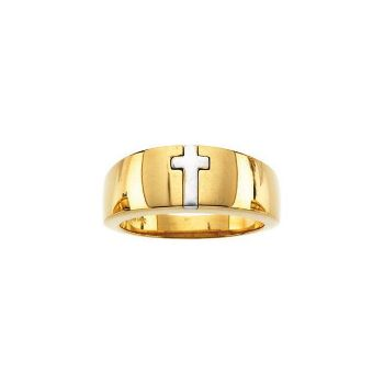 Picture of 14K Gold Cross Band