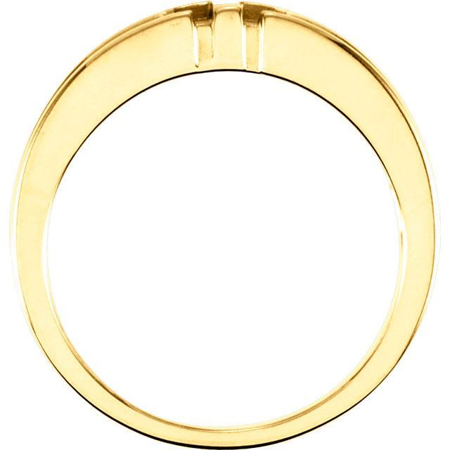 Picture of 14K Gold Men's Religious Cross Duo Band