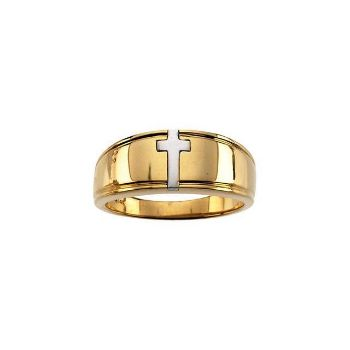 Picture of Religious Cross Ring Duo
